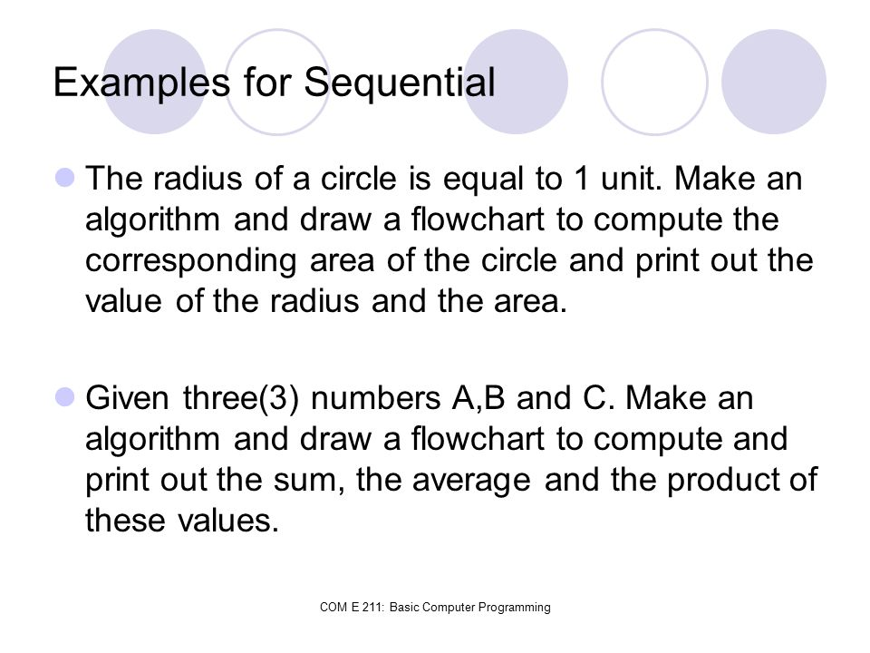 Examples for Sequential