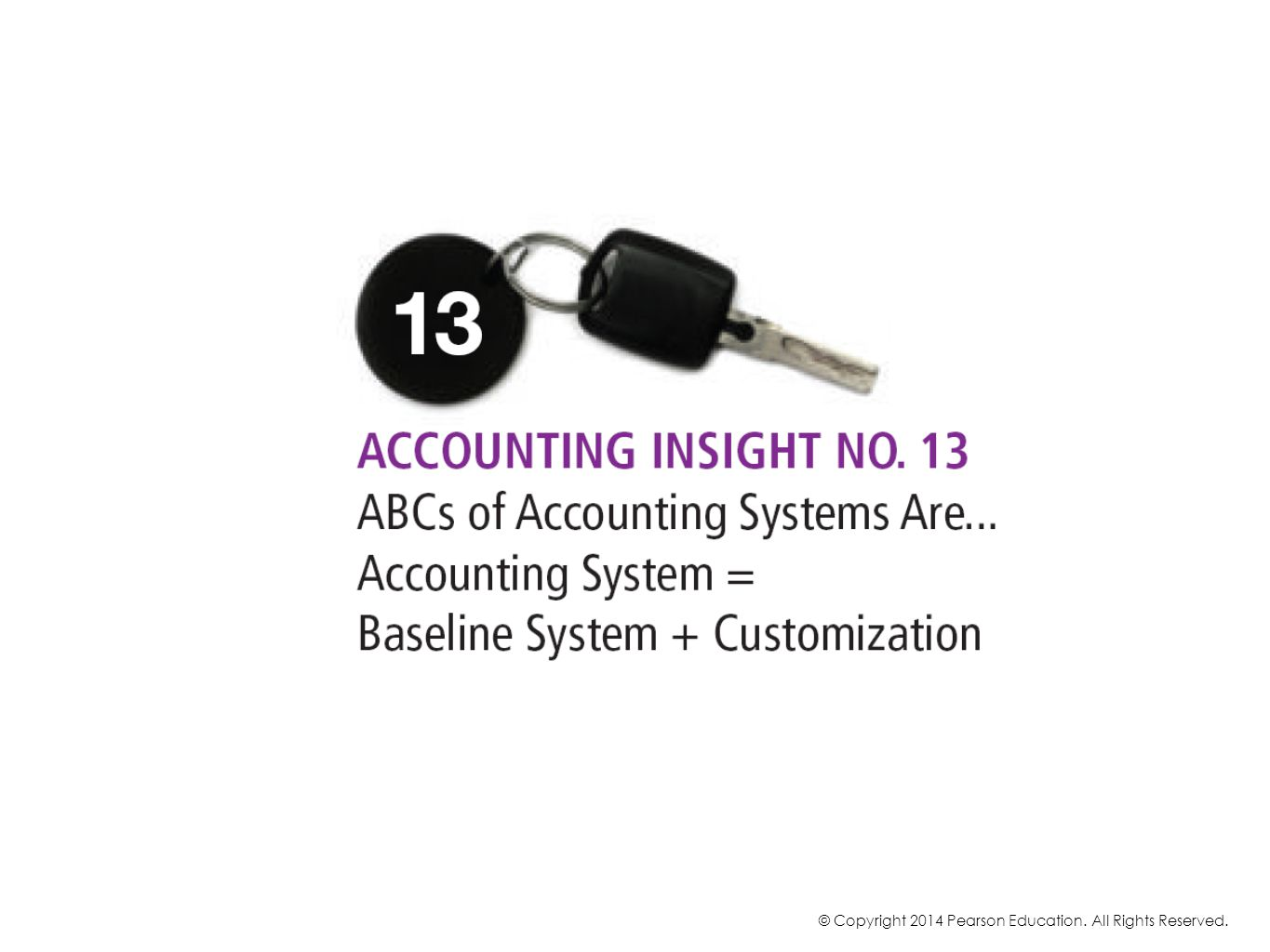 So you can get a head start by using a baseline accounting system with modules and transactions that are common to most enterprises.