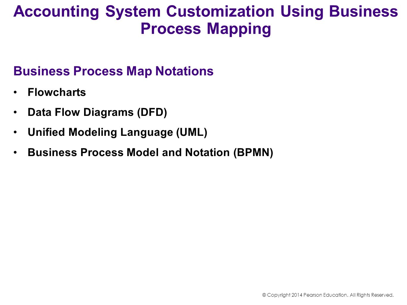 Accounting System Customization Using Business Process Mapping