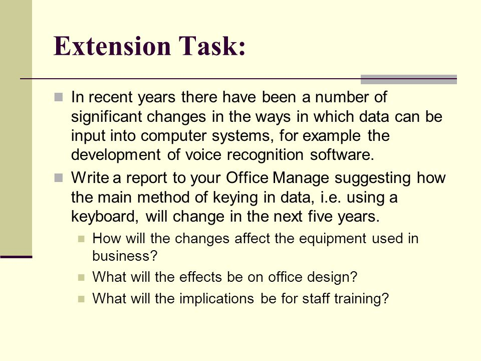 Extension Task: