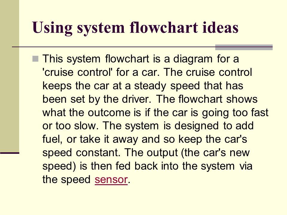 Using system flowchart ideas