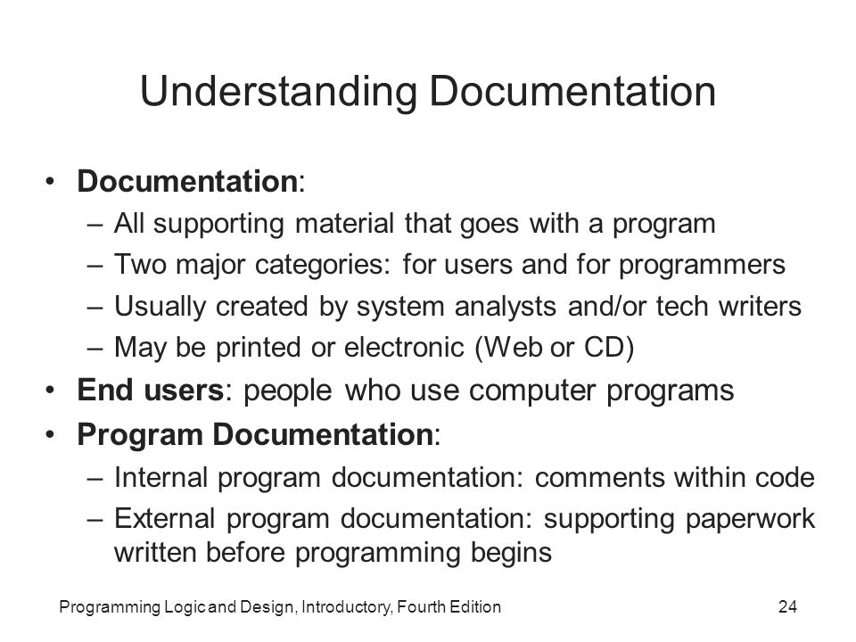 Understanding Documentation