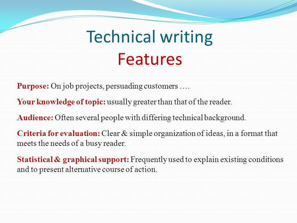 what is the purpose of technical writing Start studying dsst technical writing learn vocabulary, terms, and more with flashcards, games, and other study tools.