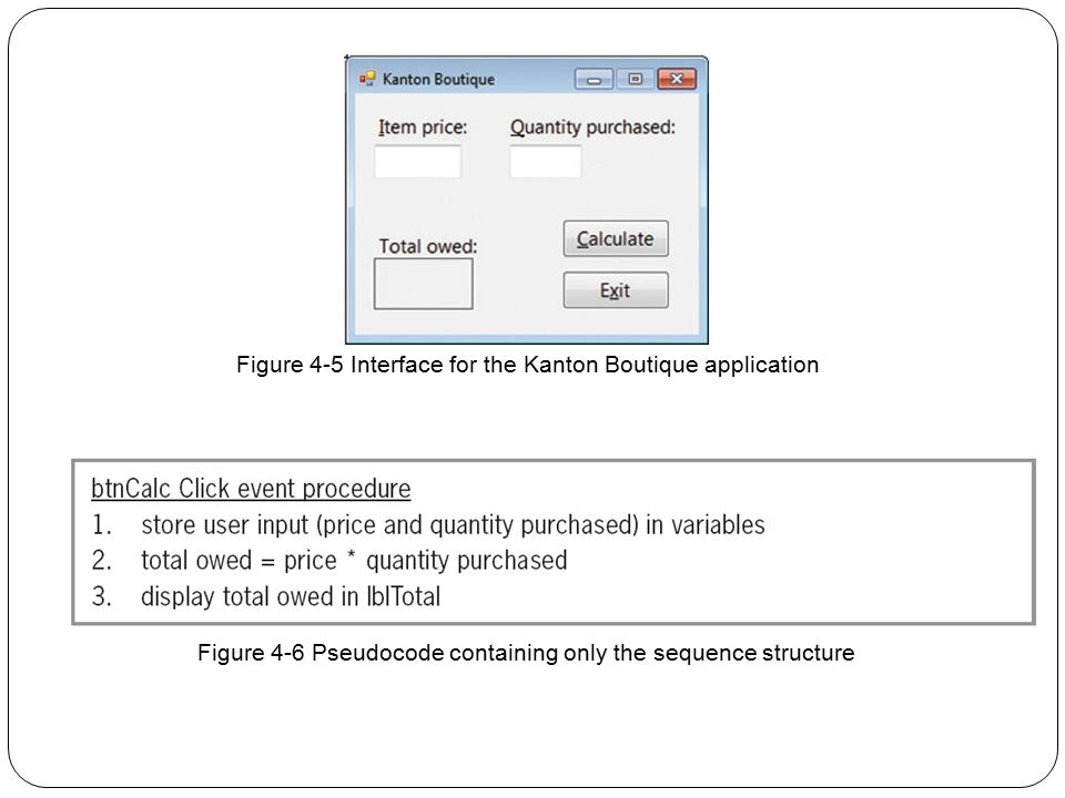 Figure 4-5 Interface for the Kanton Boutique application