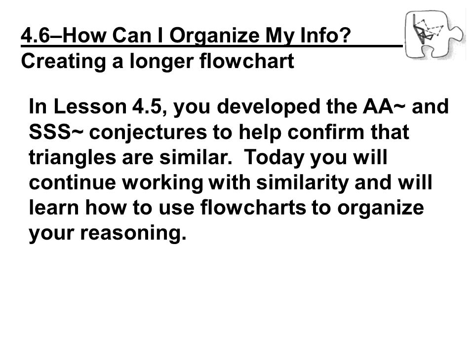 4.6–How Can I Organize My Info