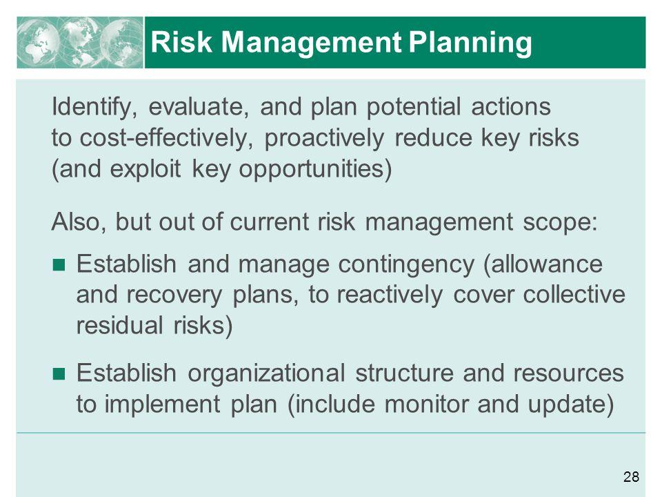 Risk Management Planning