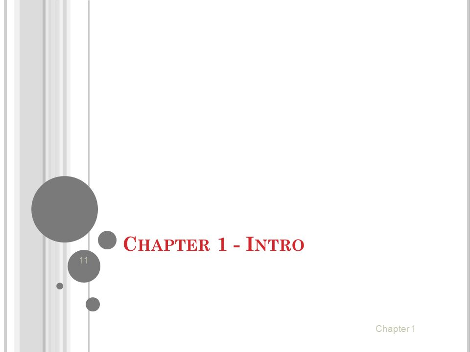 Chapter 1 - Intro Chapter 1