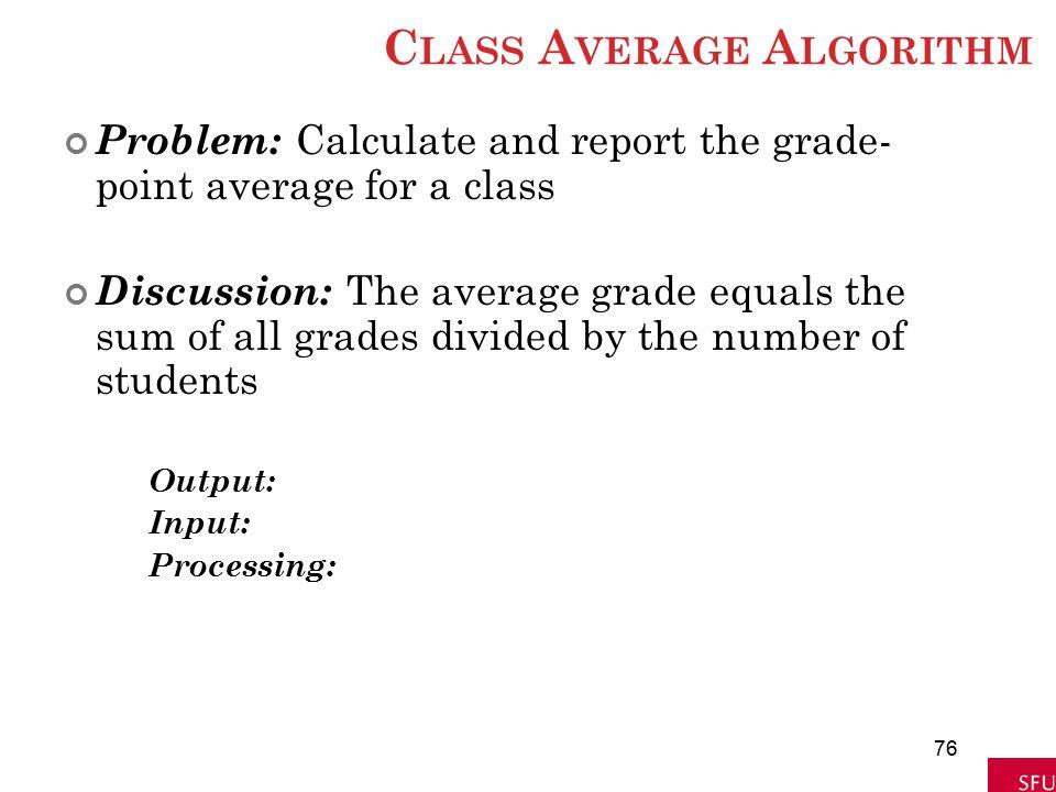 Class Average Algorithm