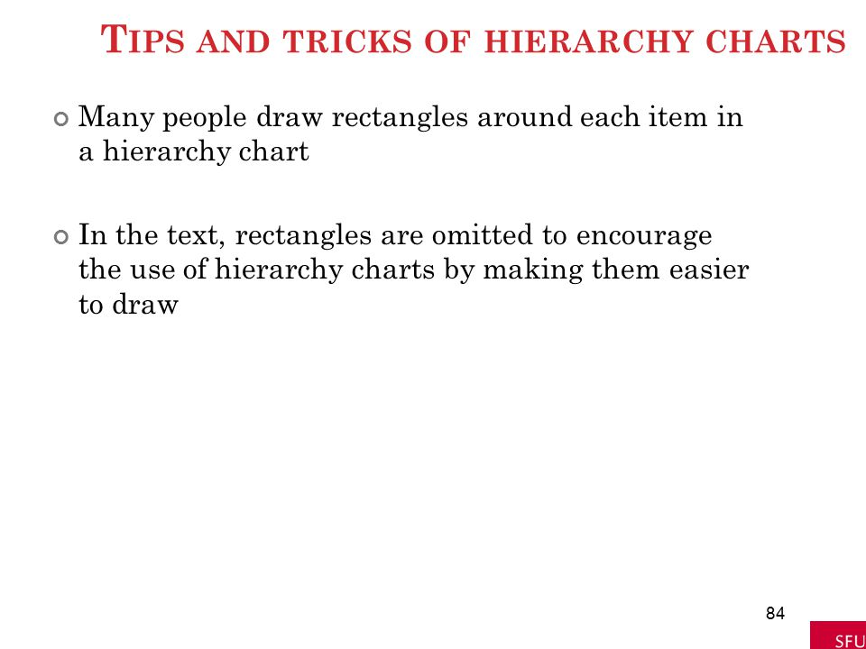 Tips and tricks of hierarchy charts