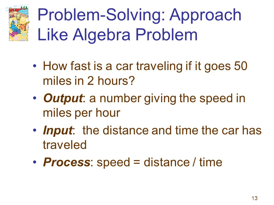 Problem-Solving: Approach Like Algebra Problem