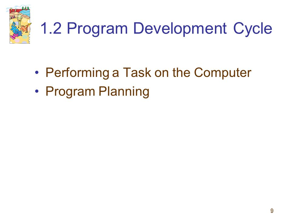 1.2 Program Development Cycle
