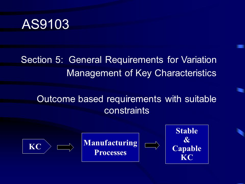 Outcome based requirements with suitable constraints