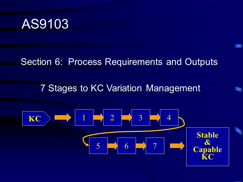 AS9103 Section 6: Process Requirements and Outputs