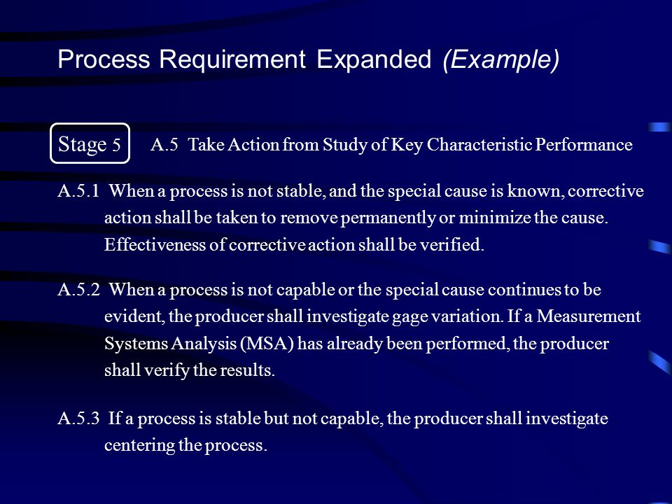 Process Requirement Expanded (Example)