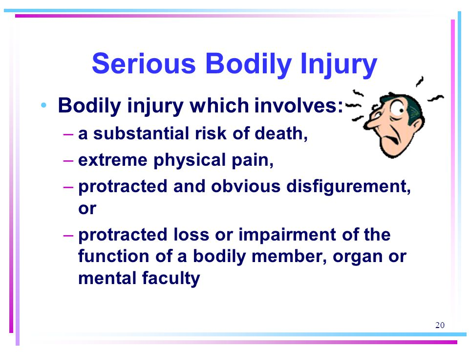 Serious Bodily Injury Bodily injury which involves: