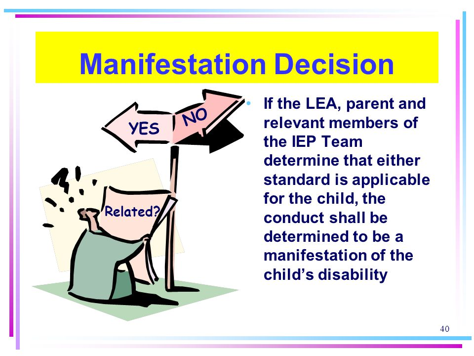 Manifestation Decision