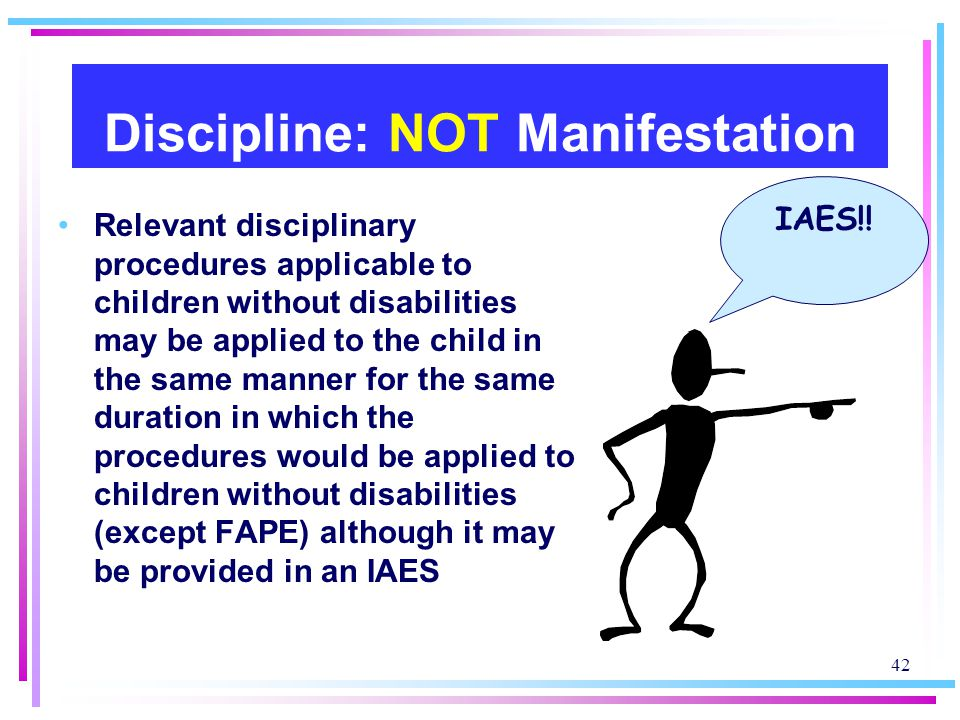 Discipline: NOT Manifestation