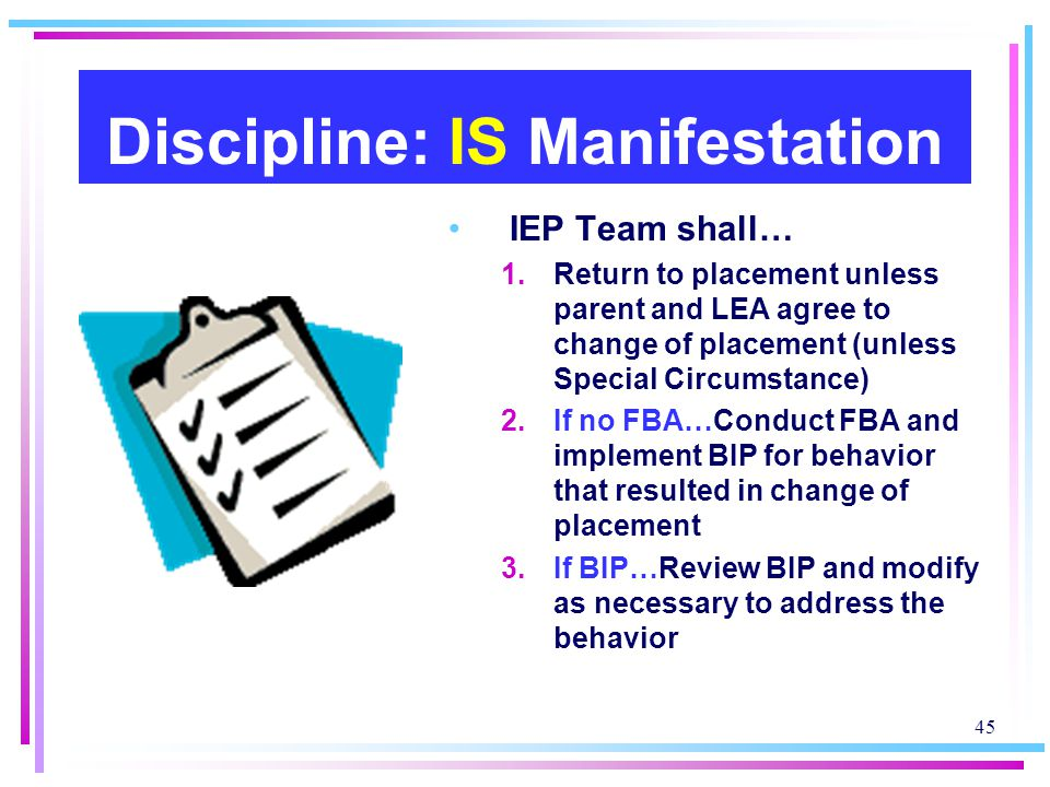 Discipline: IS Manifestation
