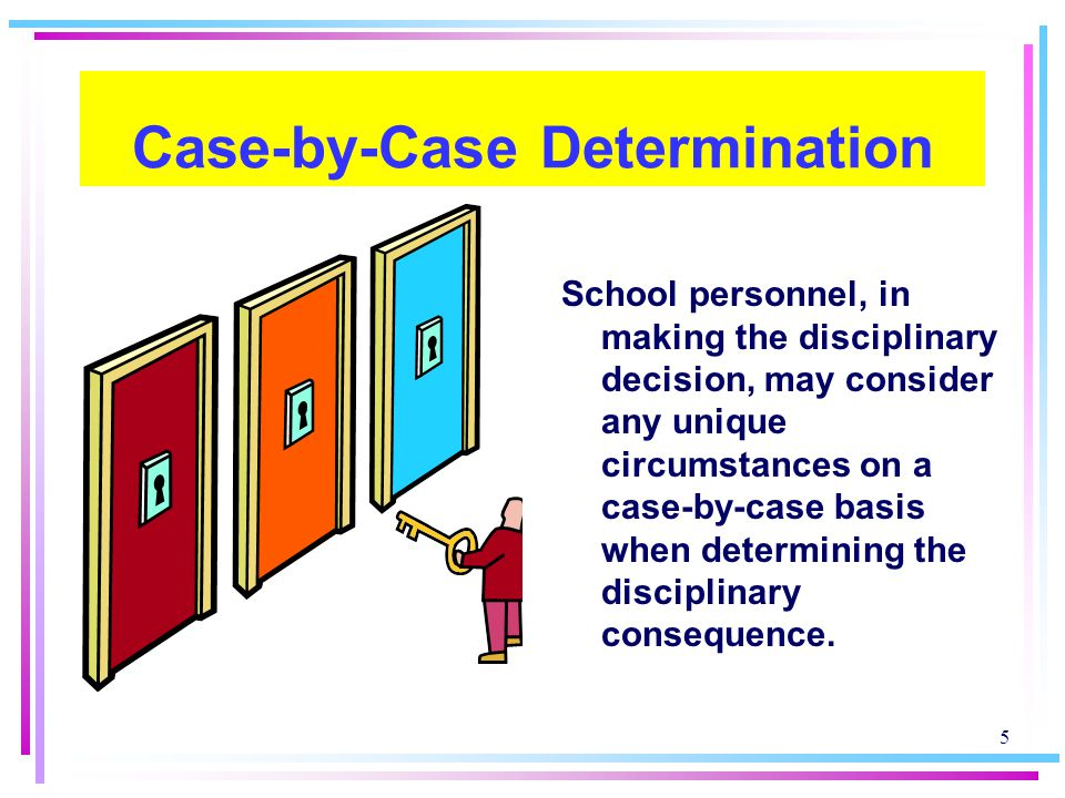 Case-by-Case Determination