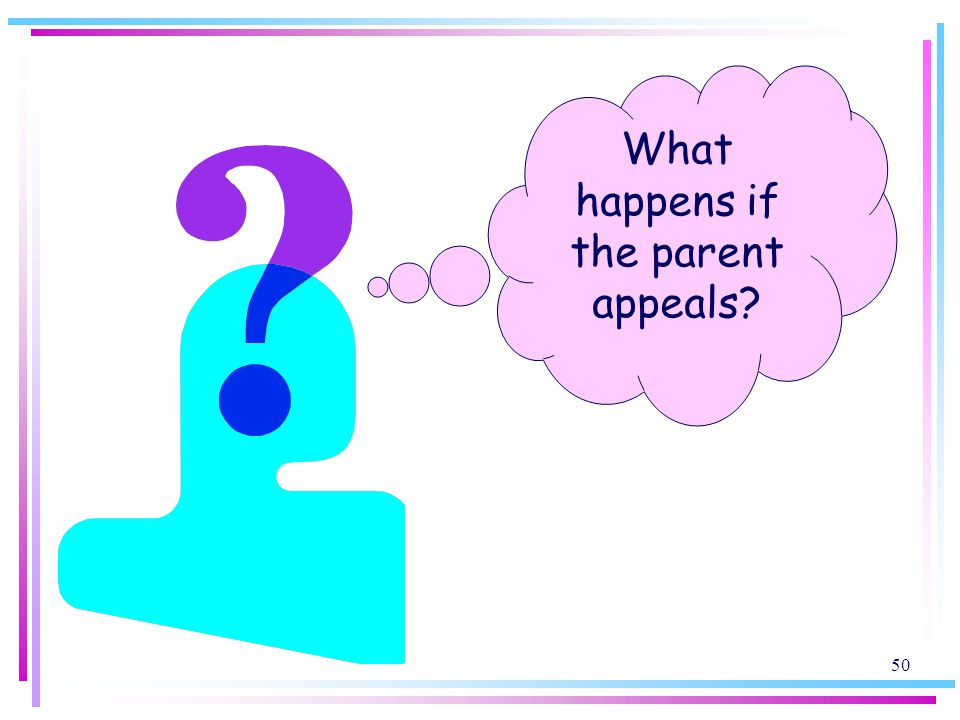What happens if the parent appeals