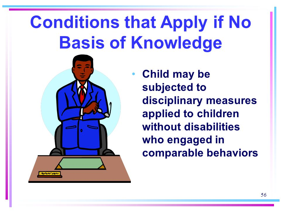 Conditions that Apply if No Basis of Knowledge