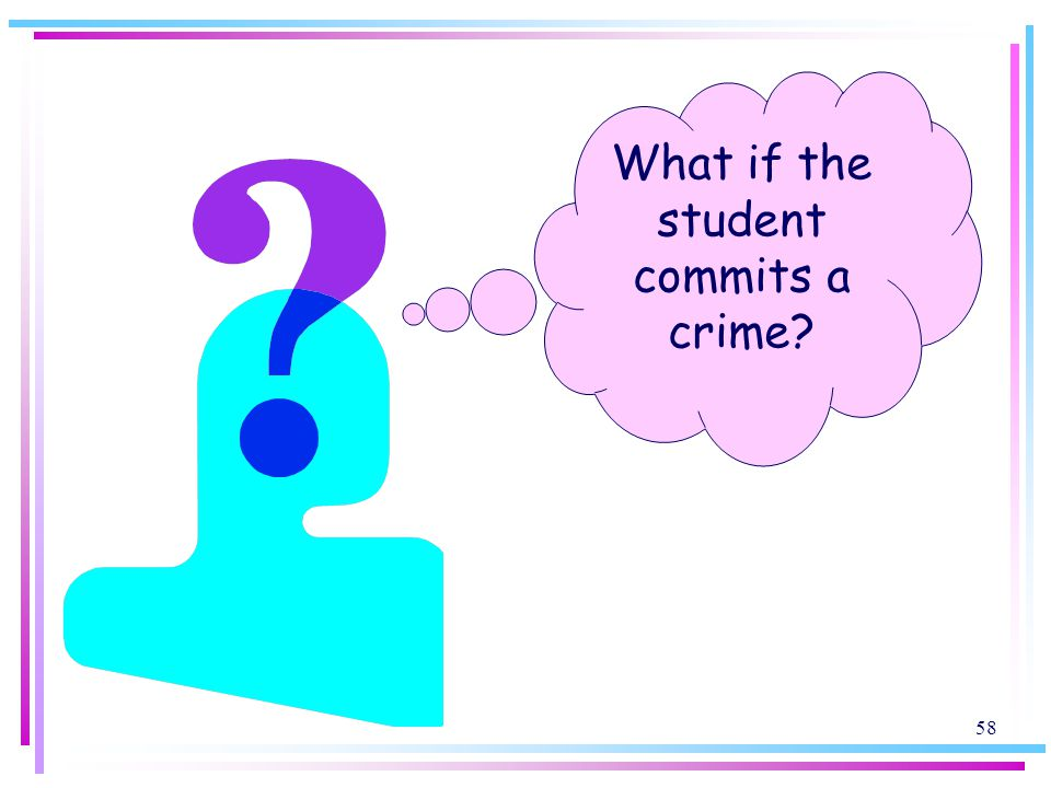 What if the student commits a crime