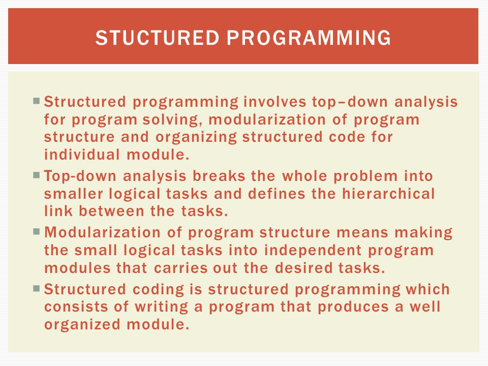 STUCTURED PROGRAMMING