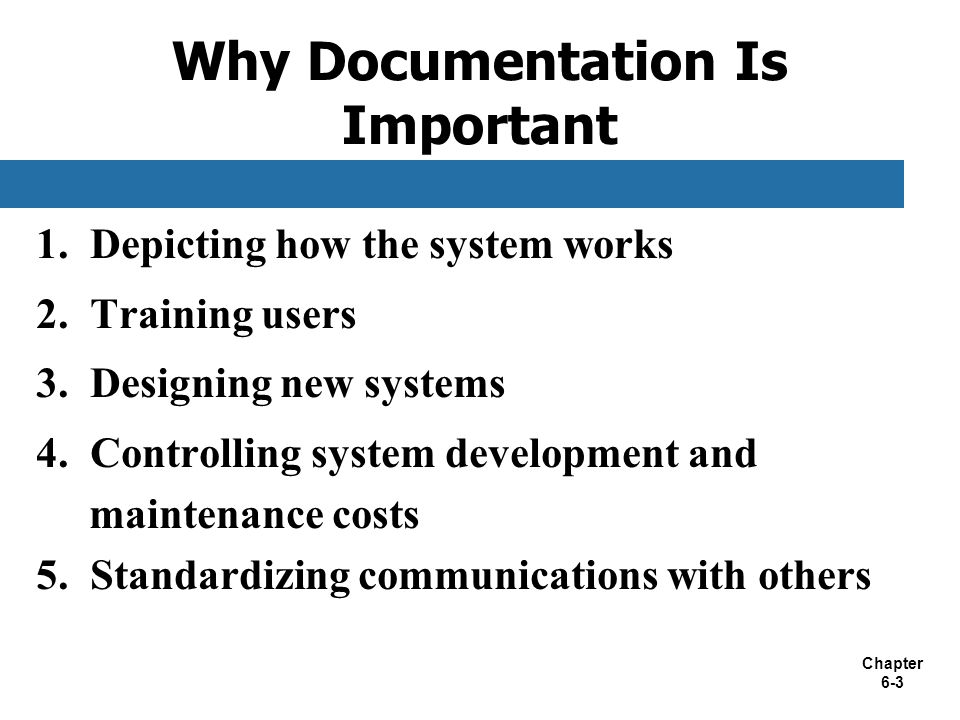Why Documentation Is Important
