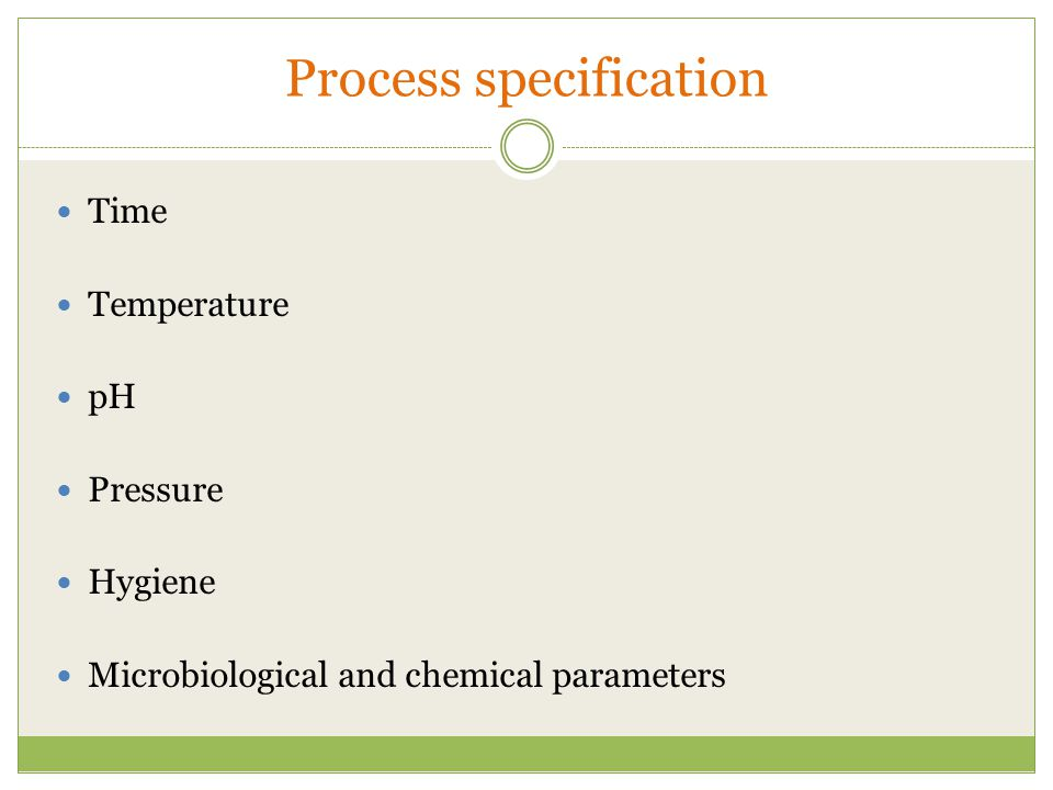 Process specification