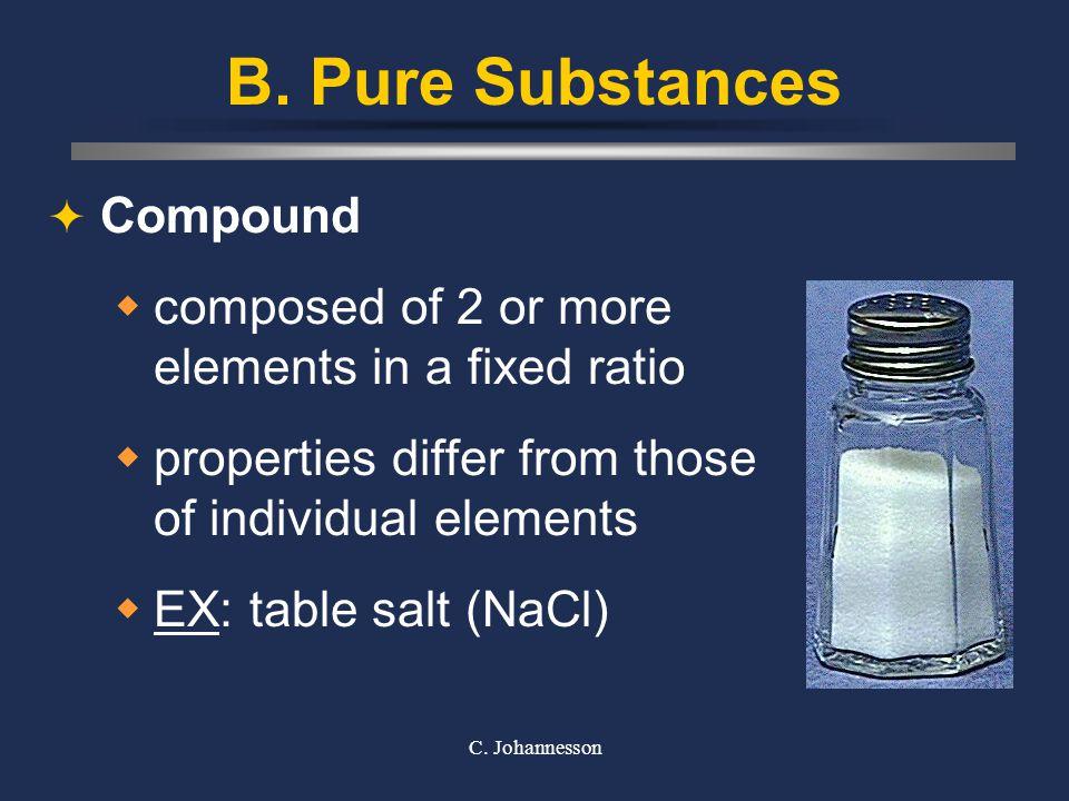 B. Pure Substances Compound