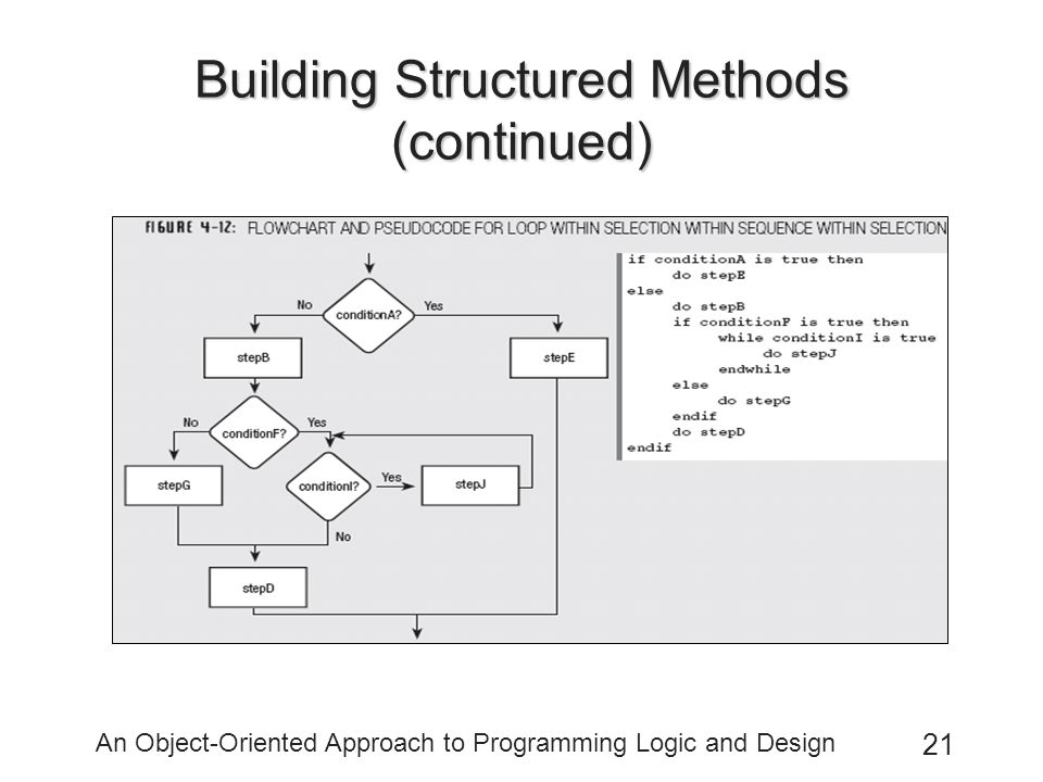 Building Structured Methods (continued)