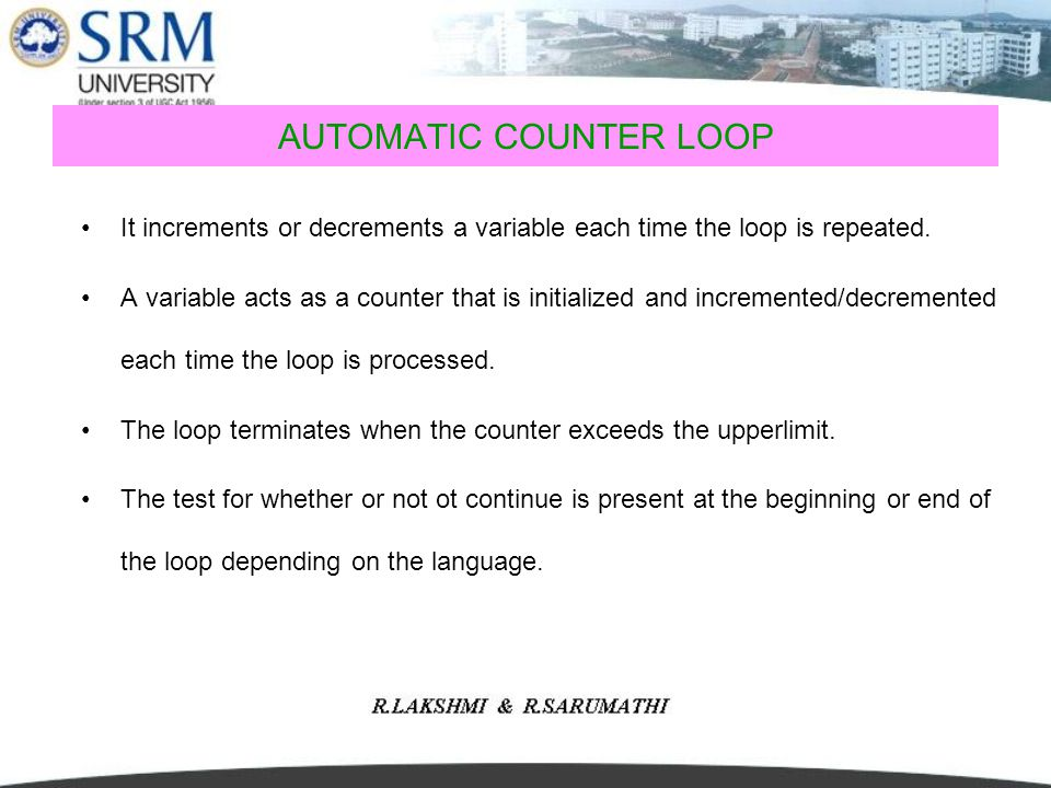 AUTOMATIC COUNTER LOOP