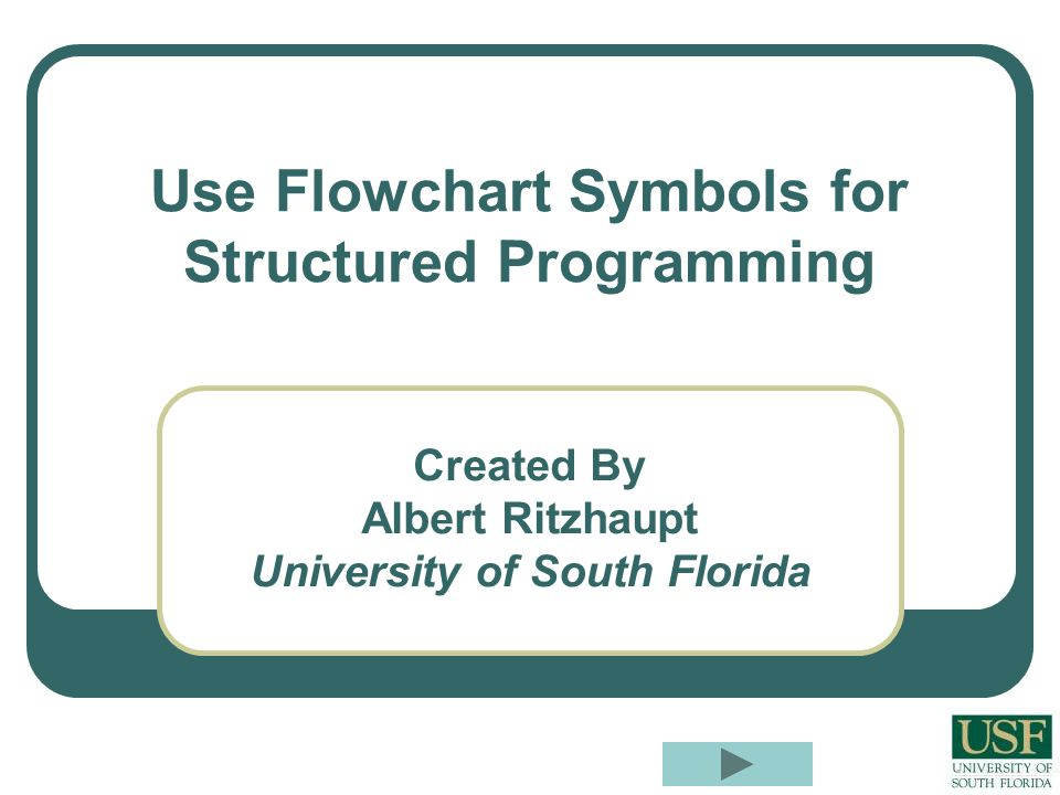 Use Flowchart Symbols for Structured Programming