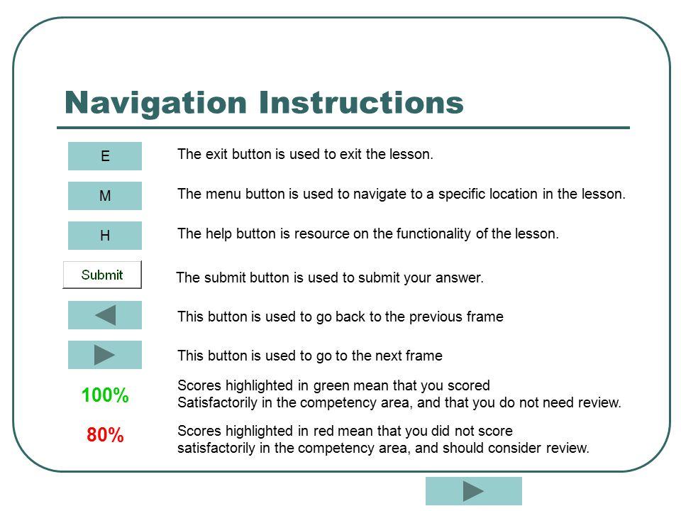 Navigation Instructions