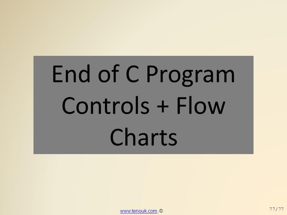 End of C Program Controls + Flow Charts