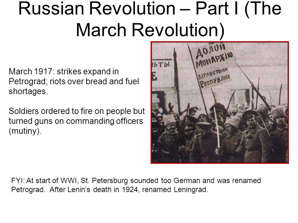 Russian Revolution – Part I (The March Revolution)