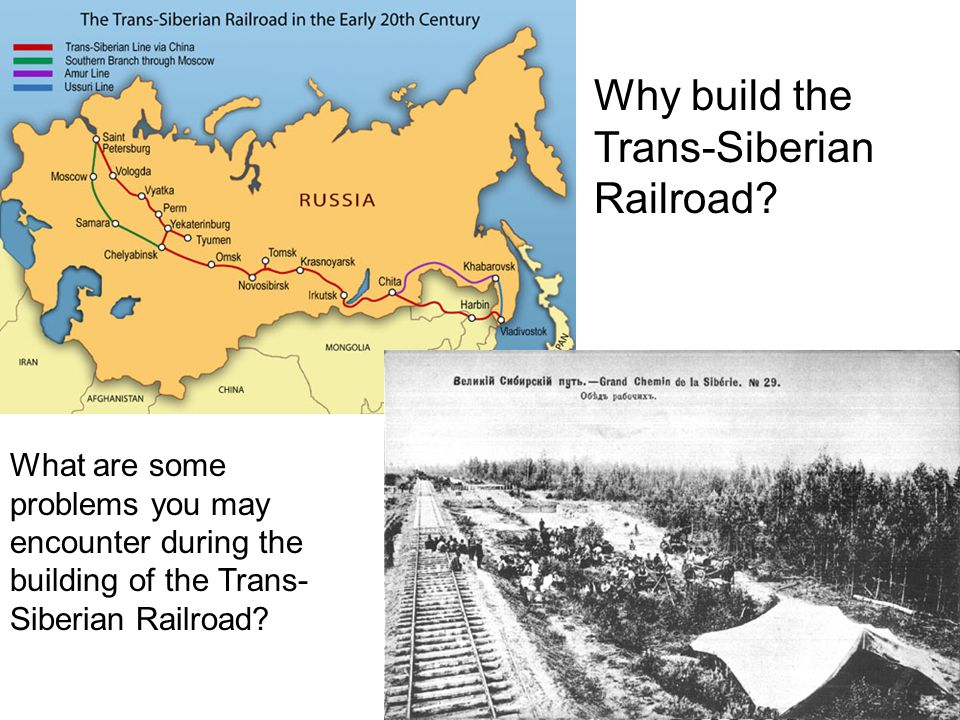 Why build the Trans-Siberian Railroad