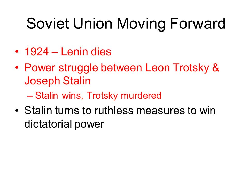 Soviet Union Moving Forward