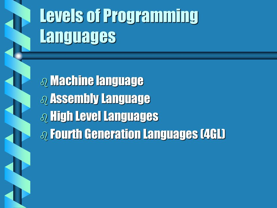 Levels of Programming Languages