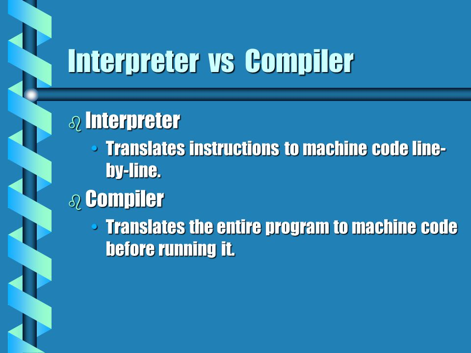 Interpreter vs Compiler