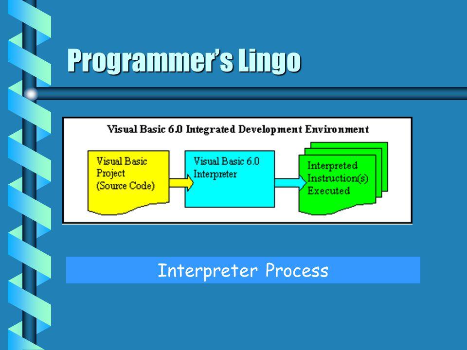 Programmer's Lingo Interpreter Process