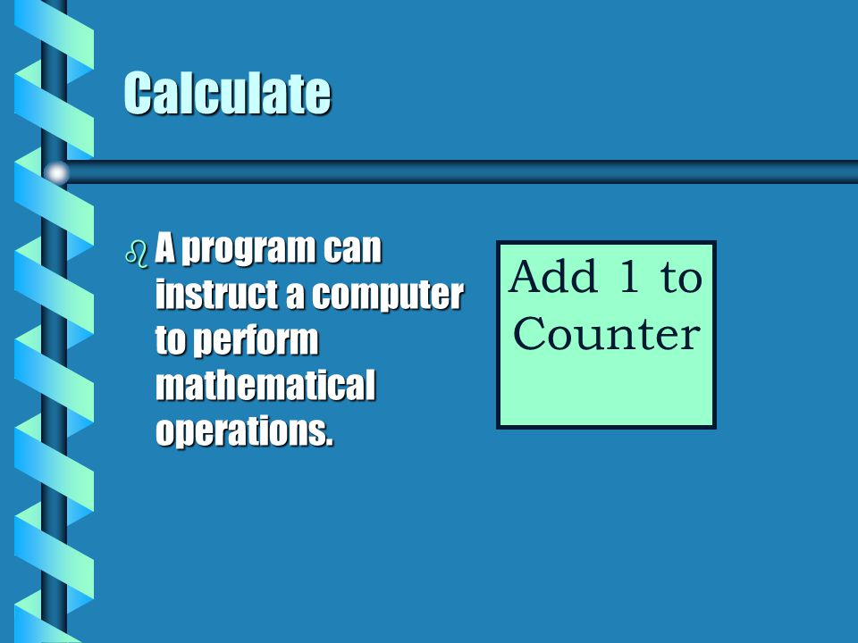 Calculate Add 1 to Counter