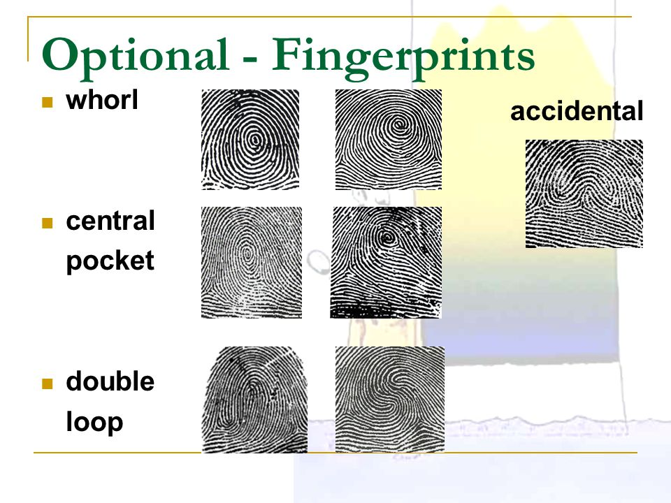 Optional - Fingerprints
