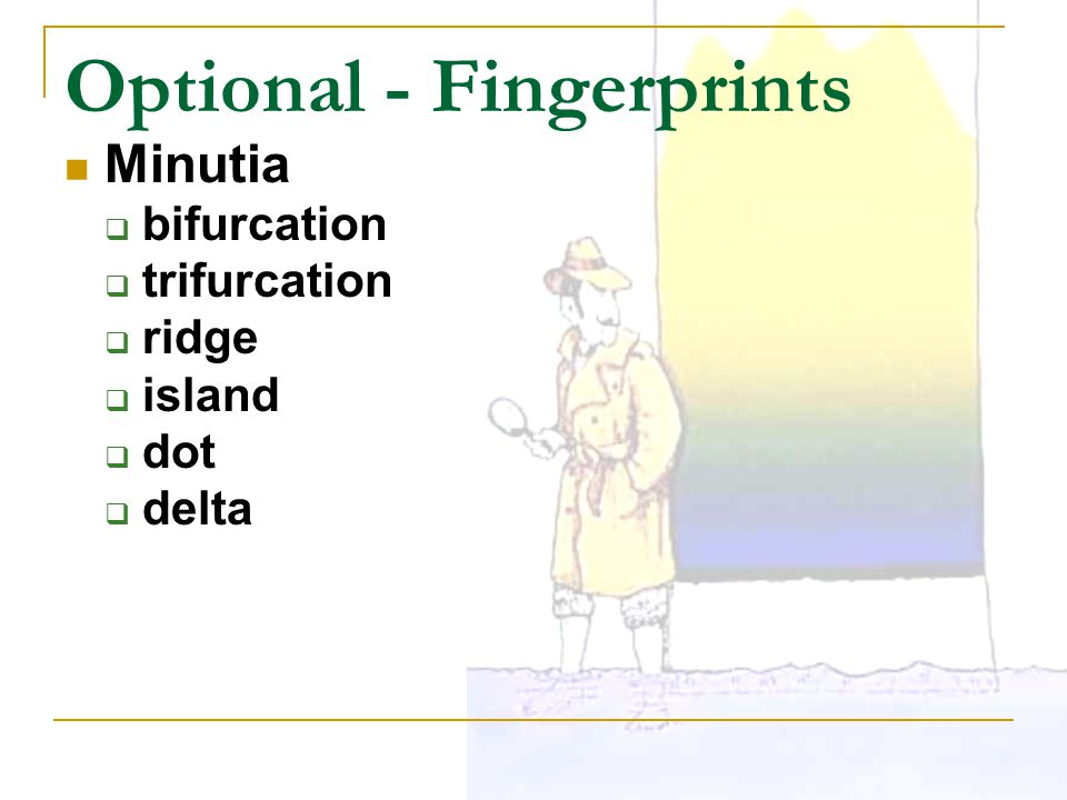Optional - Fingerprints