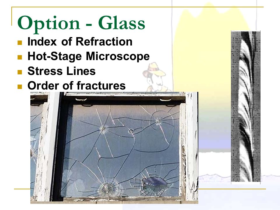 Option - Glass Index of Refraction Hot-Stage Microscope Stress Lines