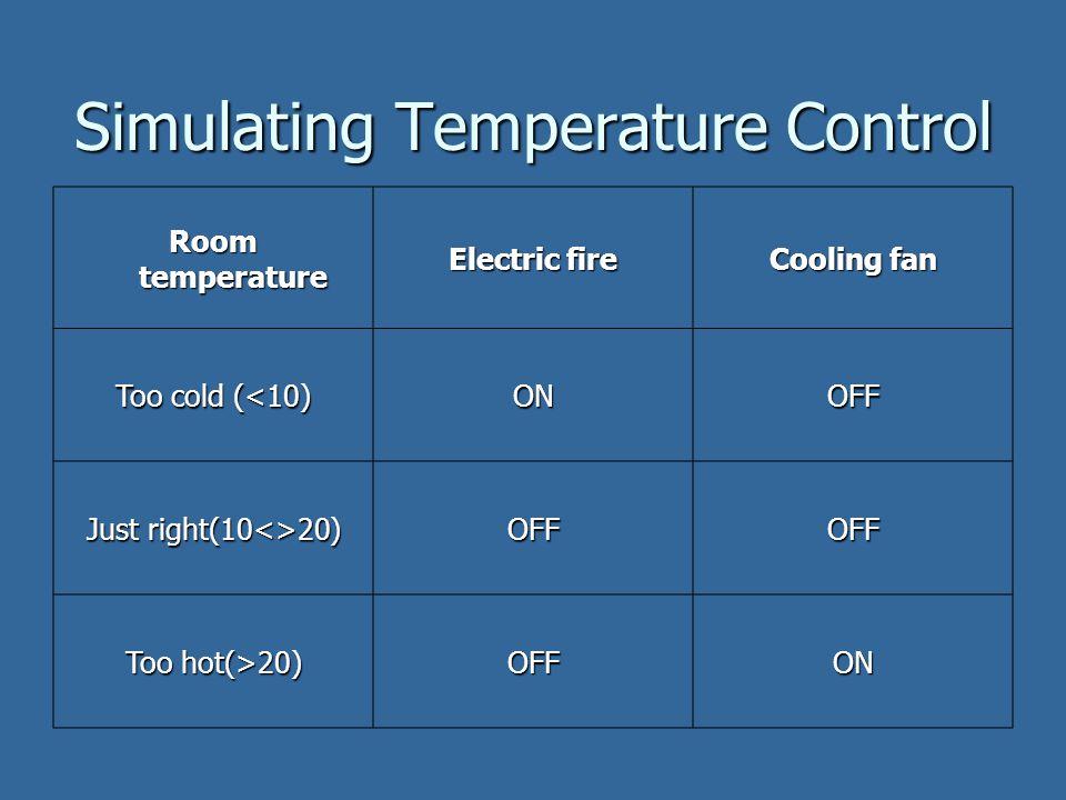 Simulating Temperature Control
