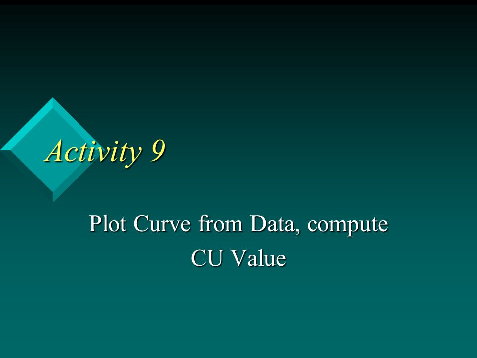 Plot Curve from Data, compute CU Value