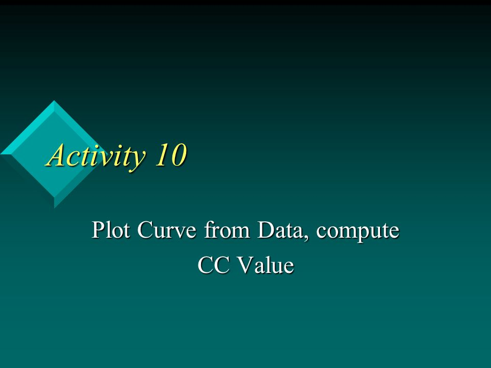 Plot Curve from Data, compute CC Value
