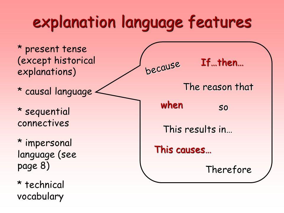 explanation language features