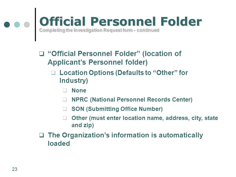 Official Personnel Folder